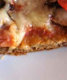 Pizza Nahaufnahme Teigrand